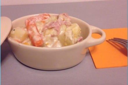Pommes de terre carottes jambon au carré frais Cookeo