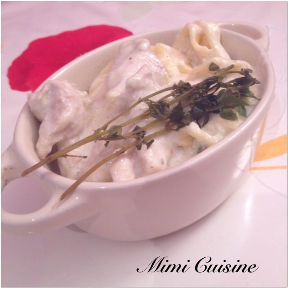 Poulet Courgette sauce mascarpone Recette Cookeo