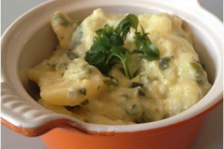 Pommes de terre Courgettes au gorgonzola Recette Cookeo