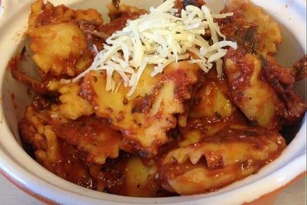 Raviolis au fromage sauce tomate basilic Recette Cookeo