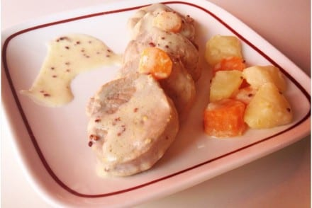 Filet mignon crème de moutarde à l'ancienne Cookeo