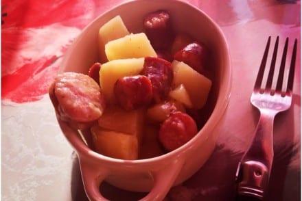 Ragout de pommes de terre saucisses fumées Recette Cookeo