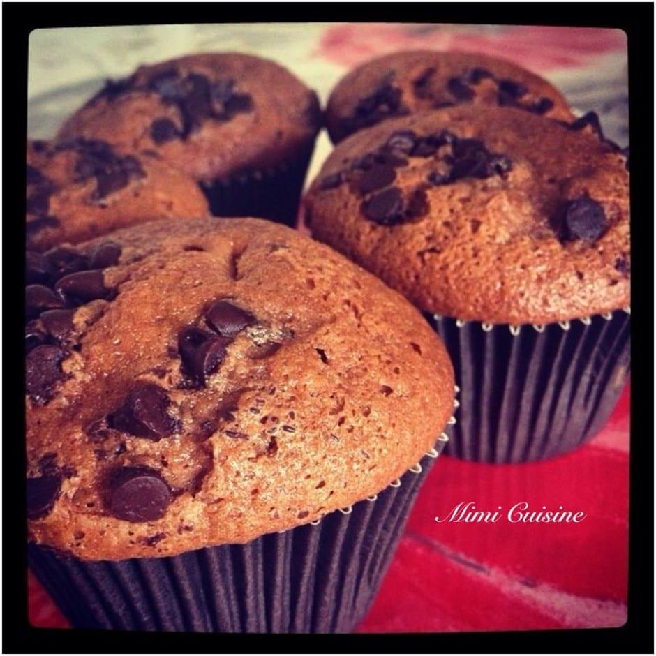 Muffins au chocolat au lait et pépites de chocolat Recette Companion