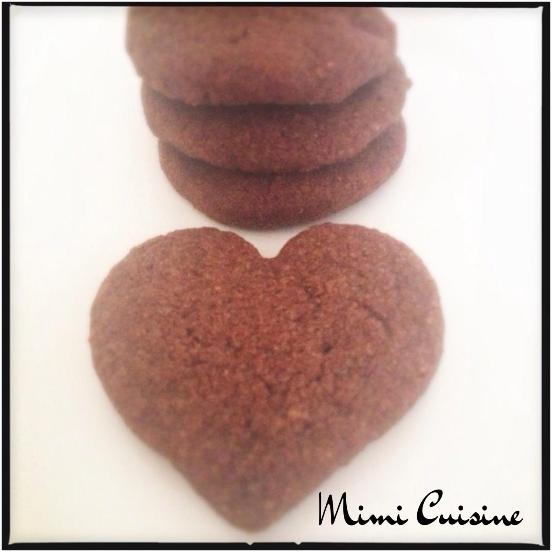 Biscuit de noel chocolat noisette