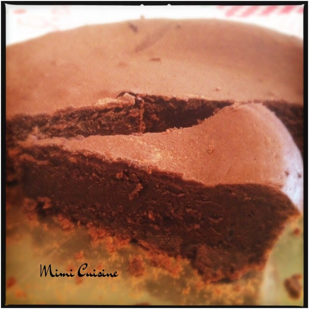 Fondant au chocolat et à la crème de marron