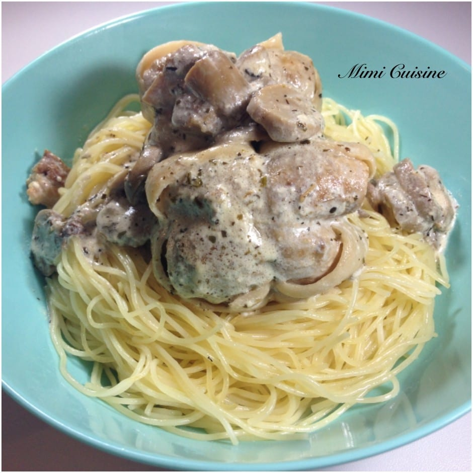 Paupiettes sauce mascarpone champignons Cookeo