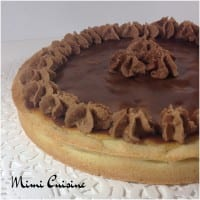 Tarte amandine poires chocolat chantilly Companion