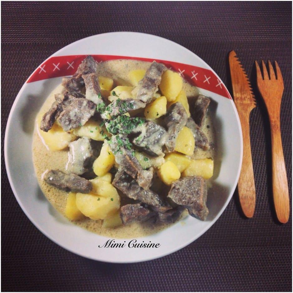Bœuf et pommes de terre à la crème Recette Cookeo
