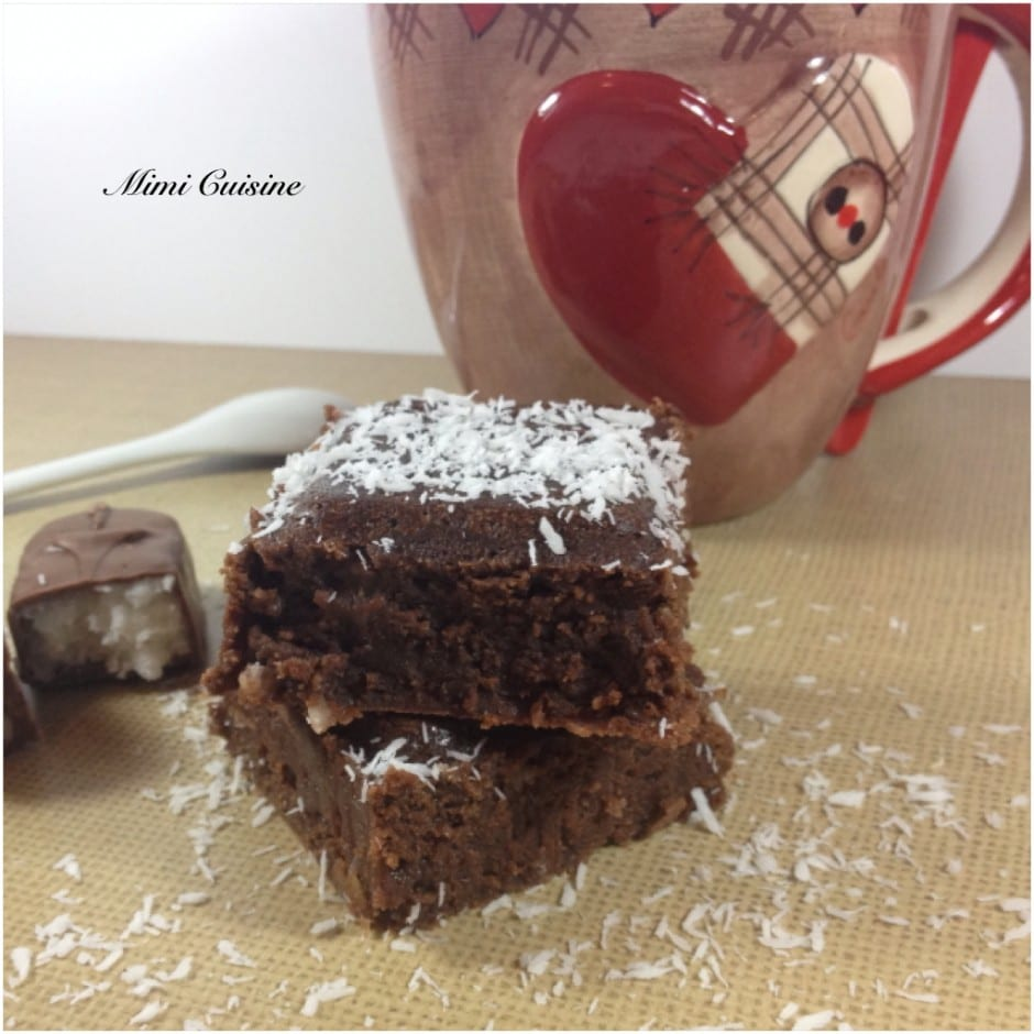 Brownies au Bounty Recette Companion