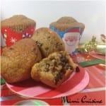 Muffins de Noël noisette cannelle chocolat Companion