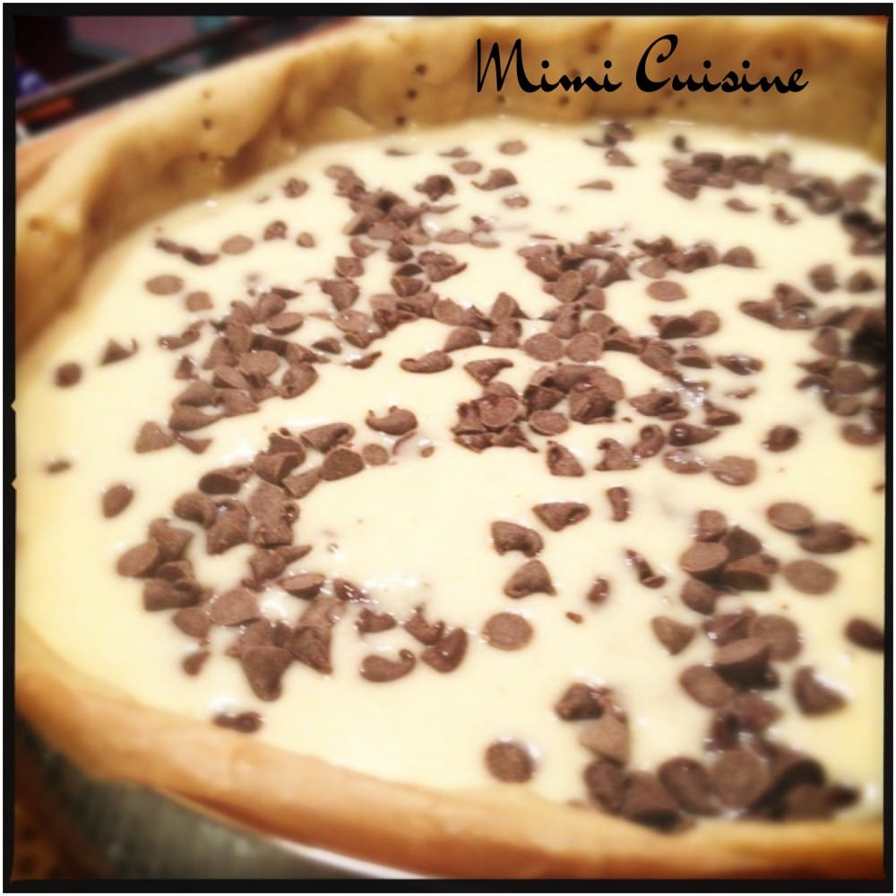 tarte amandine aux pépites de chocolat
