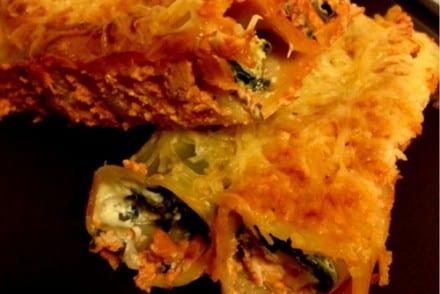 Cannellonis aux Filet de lieu et aux épinard