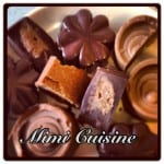 Chocolat noir cœur praliné et tout praliné