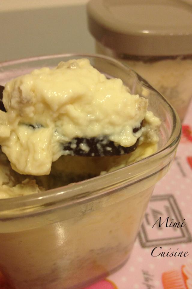 Crèmes desserts vanille et banane