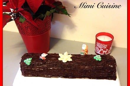 Buche de Noel Chocolat Chocolat caramel coeur croquant chocolat praliné