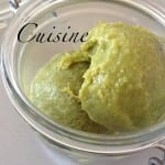 Glace à la pistache avec sorbetière