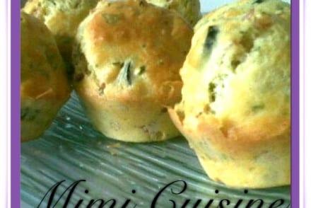 Muffins jambon olive parmesan basilic