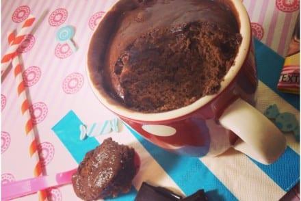 Mug Cake fondant au chocolat carambar
