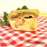 Browkies salé lardons olives parmesan pesto