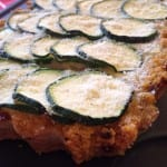 Tarte courgette et polenta