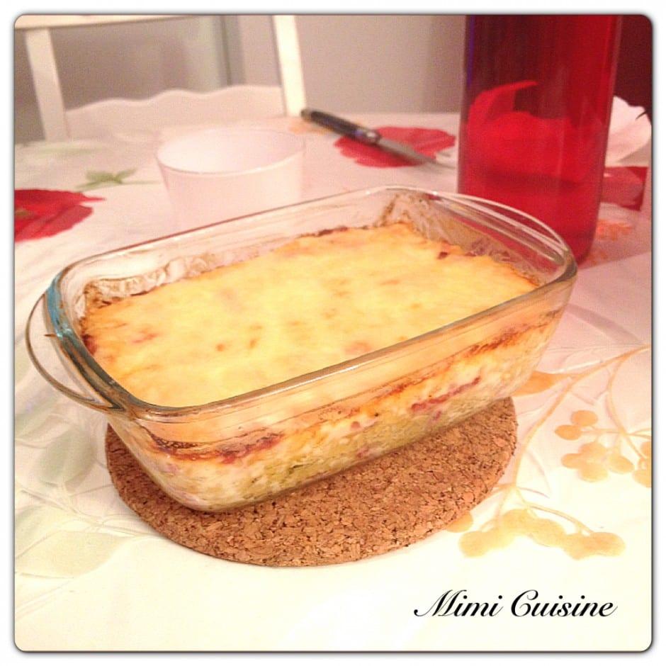 Gratin de pâte et fromage raclette