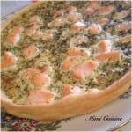 Tarte saumon frais et aneth