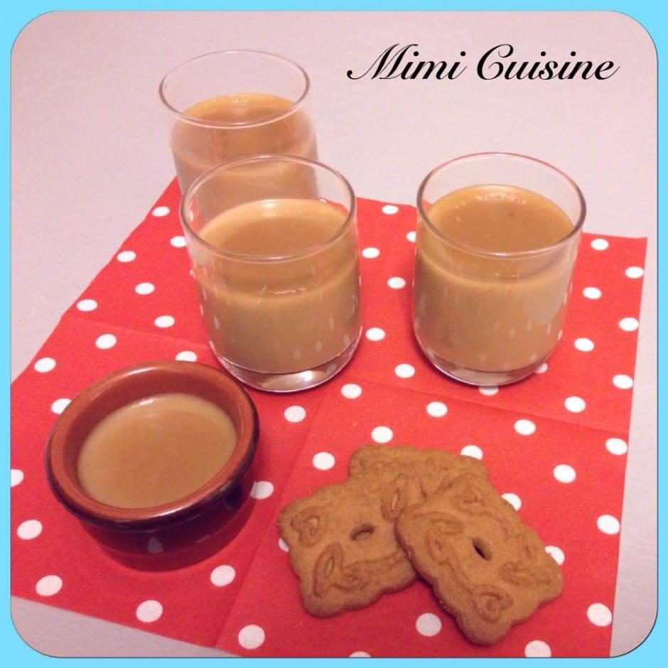 Crèmes dessert spéculoos Recette Thermomix