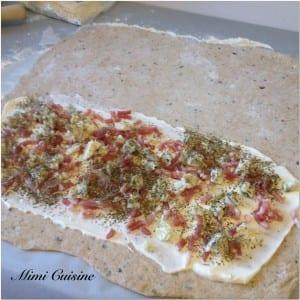 Fougasse lardon roquefort Recette Thermomix