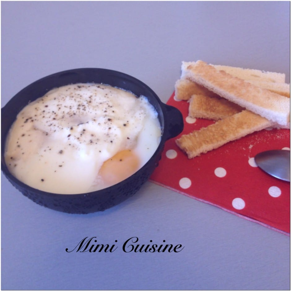 Oeuf cocotte au maroilles Recette Thermomix
