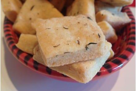 Sablés salés parmesan thym Recette Thermomix