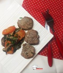 Filet mignon aux champignons et au Calvados