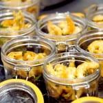 Risotto à l'encre de seiche et crevettes au miel en bocaux Hutchinson