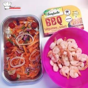 Tapas sucrée salée crevettes ananas et légumes du soleil Bonduelle