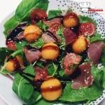 Salade de Melon de nos régions et jambon de pays
