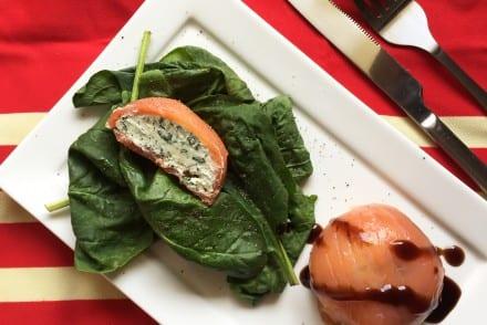 Dômes de saumon fumé au fromage frais Recette Tupperware