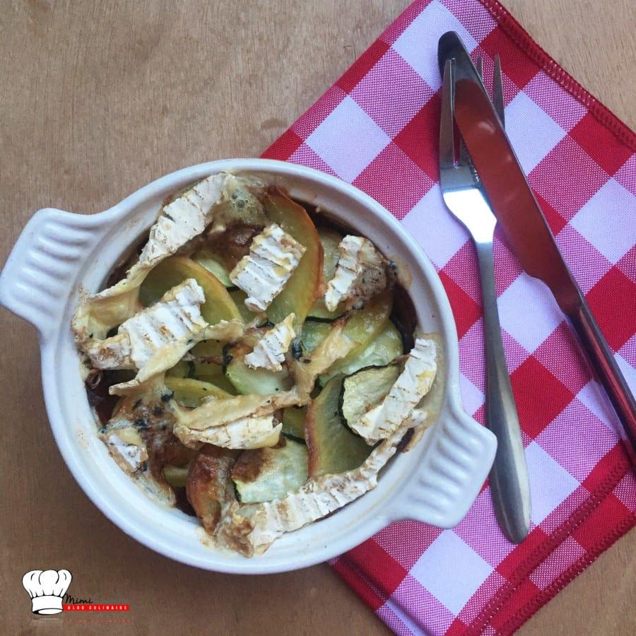 Gratin Pomme de Terre Courgette et Brie aux Truffes