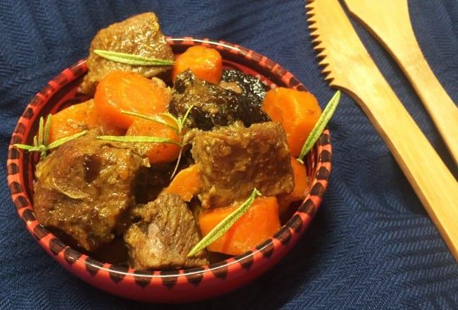 Tajine d'agneau aux épices et aux pruneaux Recette Cookeo
