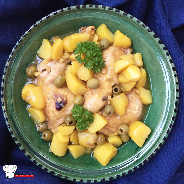 tajine poulet pomme de terre olives recette cookeo mimi. Black Bedroom Furniture Sets. Home Design Ideas