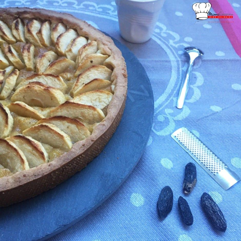 Tarte aux Pommes fève Tonka Recette Companion