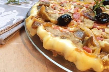 Tatin Aubergine et fromage à raclette