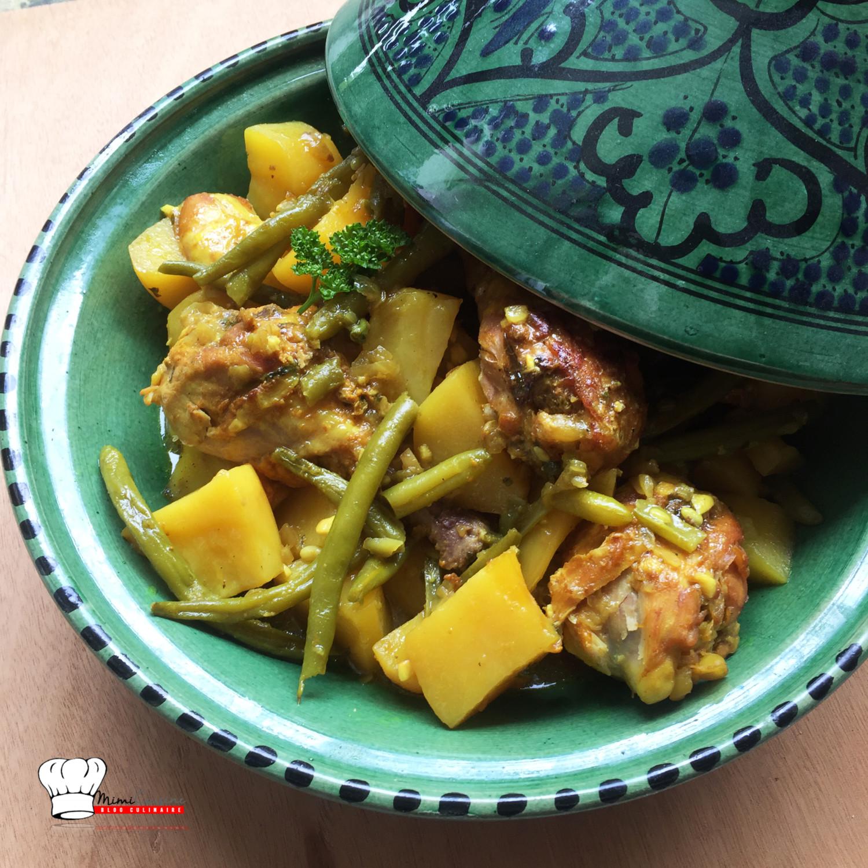 tajine de poulet haricots verts recette cookeo mimi cuisine. Black Bedroom Furniture Sets. Home Design Ideas