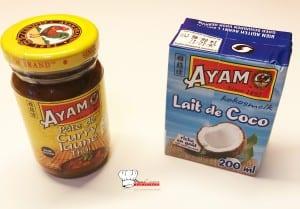 Boulettes au lait de coco et curry jaune Ayam