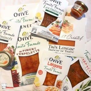 Tagliatelle crème et de truite fumée Ovive