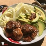 Poke Bowl Riz Courgette Avocat Saumon