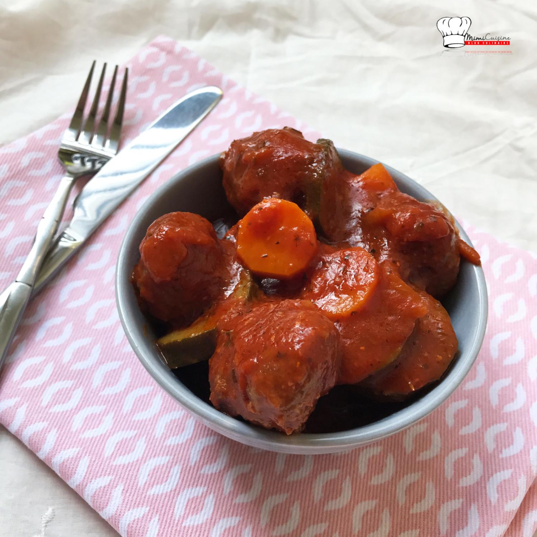 Boulettes de boeuf sauce tomate recette cookeo mimi cuisine - Boulette de boeuf maison ...