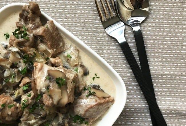 Sauté de Veau Crème de Champignons Recette Cookeo