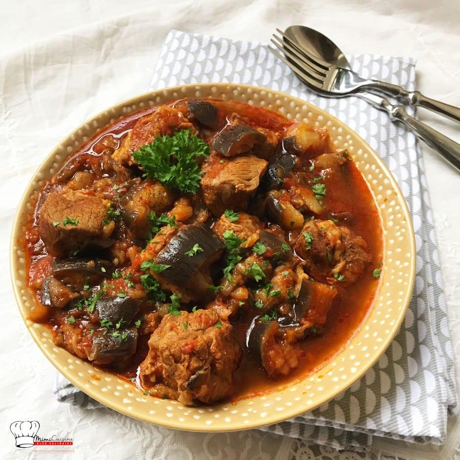 Application Mon Cookeo Test Recette Sauté d'agneau et aubergines fondantes