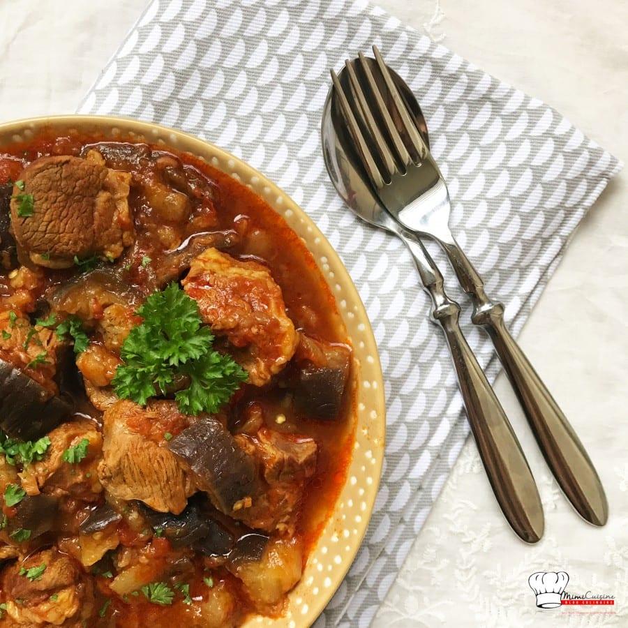 Sauté d'agneau et aubergines fondantes Recette Cookeo