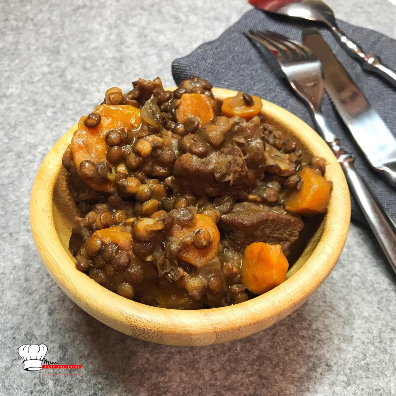 boeuf lentilles carottes recette cookeo mimi cuisine. Black Bedroom Furniture Sets. Home Design Ideas