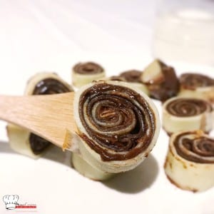 Crêpes vanille chocolat roulées au Nutella Recette Companion